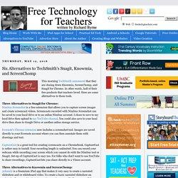 Six Alternatives to TechSmith's Snagit, Knowmia, and ScreenChomp