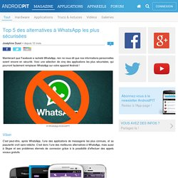 Top 5 des alternatives à WhatsApp les plus sécurisées
