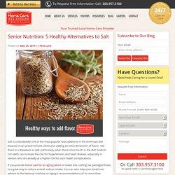 5 Salt Alternatives for Seniors that are Healthy