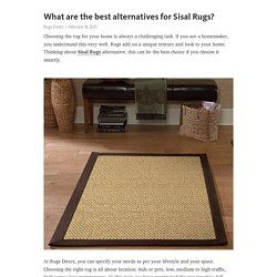 What are the best alternatives for Sisal Rugs?