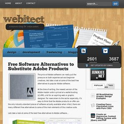 Free Software Alternatives to Substitute Adobe Products