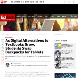 As Digital Alternatives to Textbooks Grow, Students Swap Backpacks for Tablets