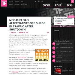 MegaUpload Alternatives See Surge in Traffic After Shutdown