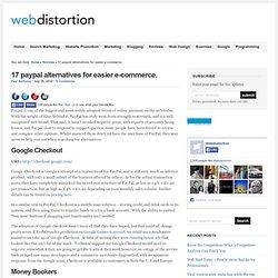 17 paypal alternatives for easier e-commerce. - Webdistortion