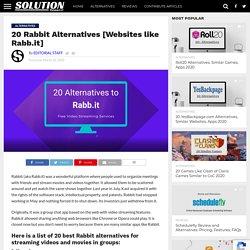 20 Rabbit Alternatives [Websites like Rabb.it] - Solution Suggest