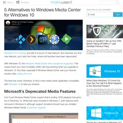 5 Alternatives to Windows Media Center for Windows 10