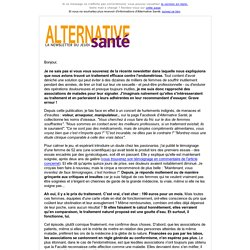 alternativessanté : que font certaines associations de malades ?