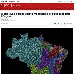 O que revela o mapa alternativo do Brasil feito por cartógrafo húngaro - BBC News Brasil