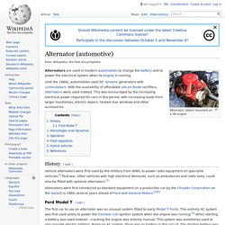 Alternator (automotive) - Wikipedia