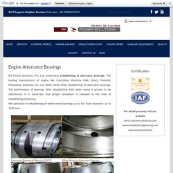Engine Alternator White Metal Bearings - RA Power Solutions
