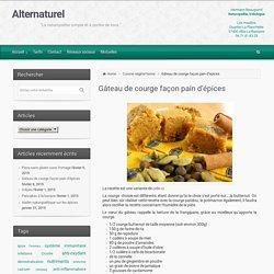 Alternaturel – Gâteau de courge façon pain d'épices
