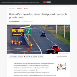 Genius404 - fajna alternatywa dla wtyczek do tworzenia przekierowań — WordPress, Wtyczki — DropDire