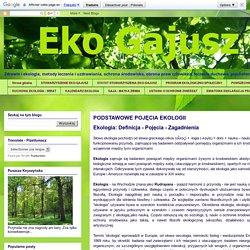 Eko-Gajusz: Zdrowie - Ekologia - Prawa Człowieka -Terapie Alternatywne - Ochrona środowiska: PODSTAWOWE POJĘCIA EKOLOGII