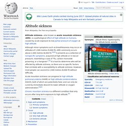 Altitude sickness - Wikipedia
