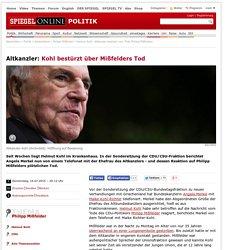 Altkanzler: Kohl bestürzt über Mißfelders Tod