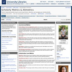 Home - Scholarly Metrics & Altmetrics - Library Guides at University of Nevada, Reno
