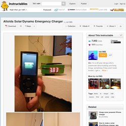 Altoids Solar/Dynamo Emergency Charger