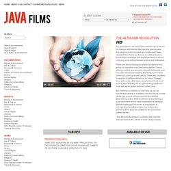 The Altruism Revolution - Java Films