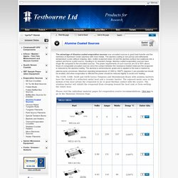 Alumina Coated Sources - Testbourne Ltd