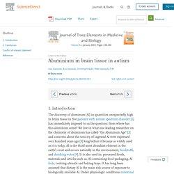 Aluminium in brain tissue in autism