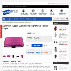 Aluminium Rugged Customized designer Card Holders Purple