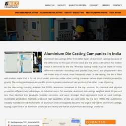 Aluminium Die Casting Companies In India - Ibex Engineering