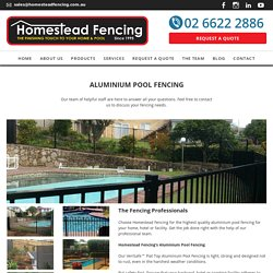 Aluminium Pool Fencing in the Northern Rivers, NSW
