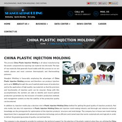 Aluminium Mold For Plastic Injection Molding Services in China
