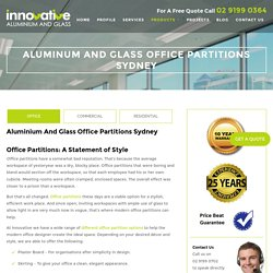 Aluminium and Glass Office Partitions Sydney