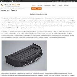 CNC Aluminium Prototyping Company - Nextproto