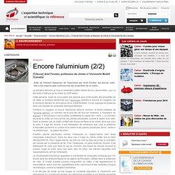 Encore l'aluminium (2/2)