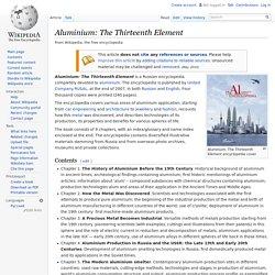 Aluminium: The Thirteenth Element