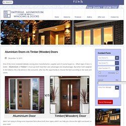 Aluminium Doors v/s Timber (Wooden) Doors - Imperial Aluminium