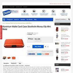Aluminium Wallet Card Case Stockholm Money Clip Mini Metal