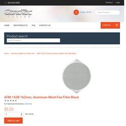 Aluminum Mesh Fan Filter, Black