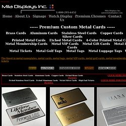 Metal Cards, Brass Cards, Aluminum Cards, Metal Membership VIP Cards, Metal Business Card