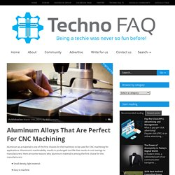 Aluminum Alloys That Are Perfect For CNC Machining