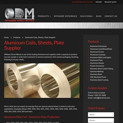 Aluminum Plate, Sheets and Coils Suppliers