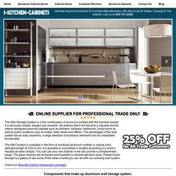 Aluminum Wall Storage SystemAluminum Frame Doors + Cabinet Doors + Kitchen Cabinets & Aluminum Hardware