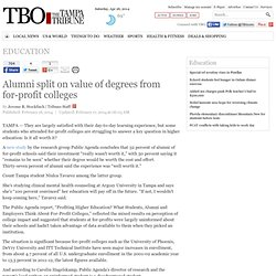 Alumni split on value of degrees from for-profit colleges