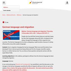 German language and migration - Alumniportal Deutschland
