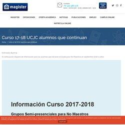 Curso 17-18 UCJC alumnos que continuan - Magister
