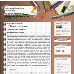 Alumnos iescabeza (Andújar): COMENTARIO DE TEXTO