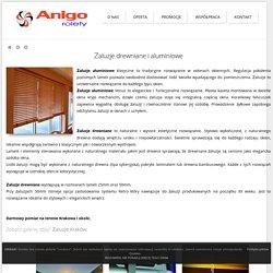 Żaluzje drewniane Kraków, żaluzje aluminiowe - ANIGO ROLETY Kraków