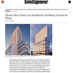 Àlvaro Siza Vieira, an Architect's Architect, in NYC