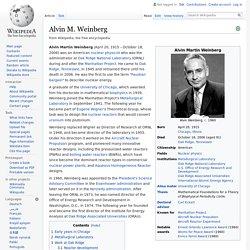 Alvin M. Weinberg - Wikipedia