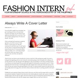 Cover Letters | Pearltrees