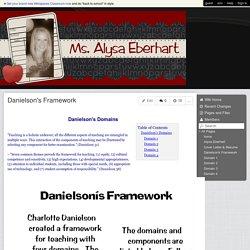 AlysaPortfolio - Danielson's Framework