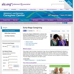 heimer's Association - Early Stage Caregiving
