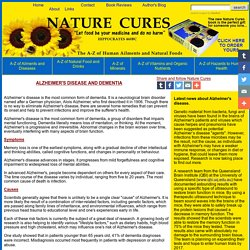 NATURE CURES Alzheimer's Disease and Dementia  - Advert free